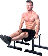XL Parallette Bars, Versatile Push Up & Dip Bars for Strength Workouts, Upper Body Exercise Equipment | Powder Coated Para...