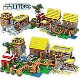 ELVVT 1170pcs Traum Gold-House Village Building Blocks Kompatibel Stadt Creative Assembly Puzzle Bildung Bricks Set Spielzeug for Kinder Geschenke