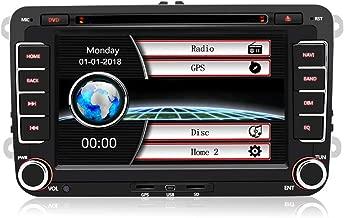 AWESAFE Radio Coche 7 Pulgadas con Pantalla Táctil 2 DIN para VW, Autoradio de VW con Bluetooth/GPS/FM/RDS/CD DVD/USB/SD, Apoyo Mandos Volante, Mirrorlink y Aparcacimiento