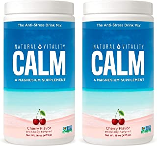 Natural Vitality Natural Magnesium Calm, Cherry,16 Ounce