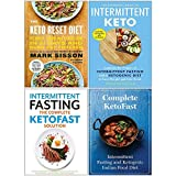Keto reset diet, the beginners guide to intermittent keto, intermittent fasting the complete ketofast solution, complete ketofast 4 books collection set