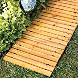 J&M Garden Pathway 8'Ft Walkway Wooden Portable Lawn Landscaping Outdoor Path