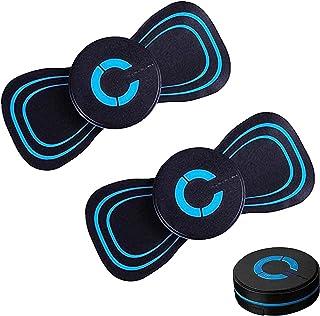 Electromagnetic Wave LegMassager Rechargeable - 2Pcs Portable EMS Shoulder Neck Massage Pad, Electric Breast Massager Smar...