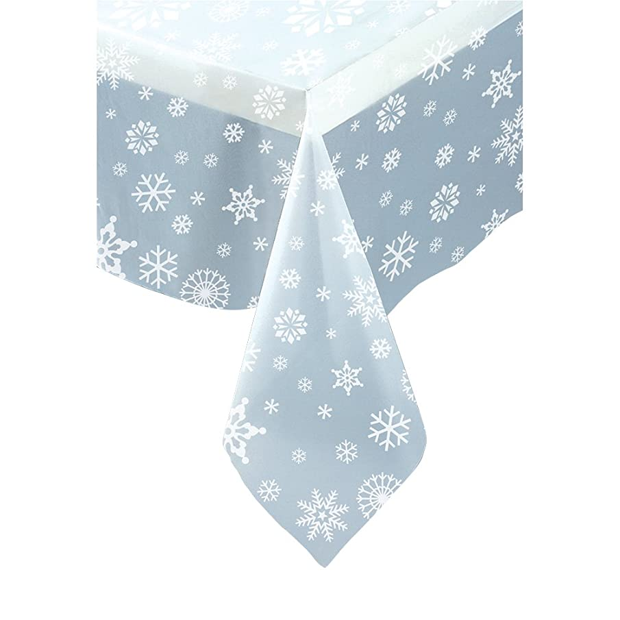 Clear Snowflake Plastic Tablecloth 108