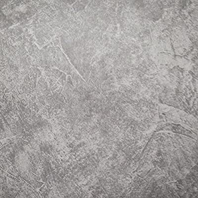 Modern Textured Cement Concrete Look Slate Grey Wallpaper (Unpasted) Roll 20.8 inch x 33 feet