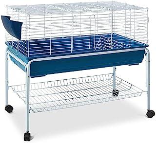 80cm Rabbit Hutch Guinea Pig Cage Rabbit Bunny Home with Detachable Wheels
