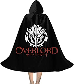 RJ5nrusfwtba Overlord Unisex Kids Hooded Cloak Cape Halloween Xmas Party Decoration Role Cosplay Costumes Black