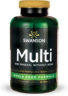 Sponsored Ad - Swanson Multi and Mineral Without Iron Multimineral Multivitamin Health Supplement Iron-Free, Whole-Food Fo...