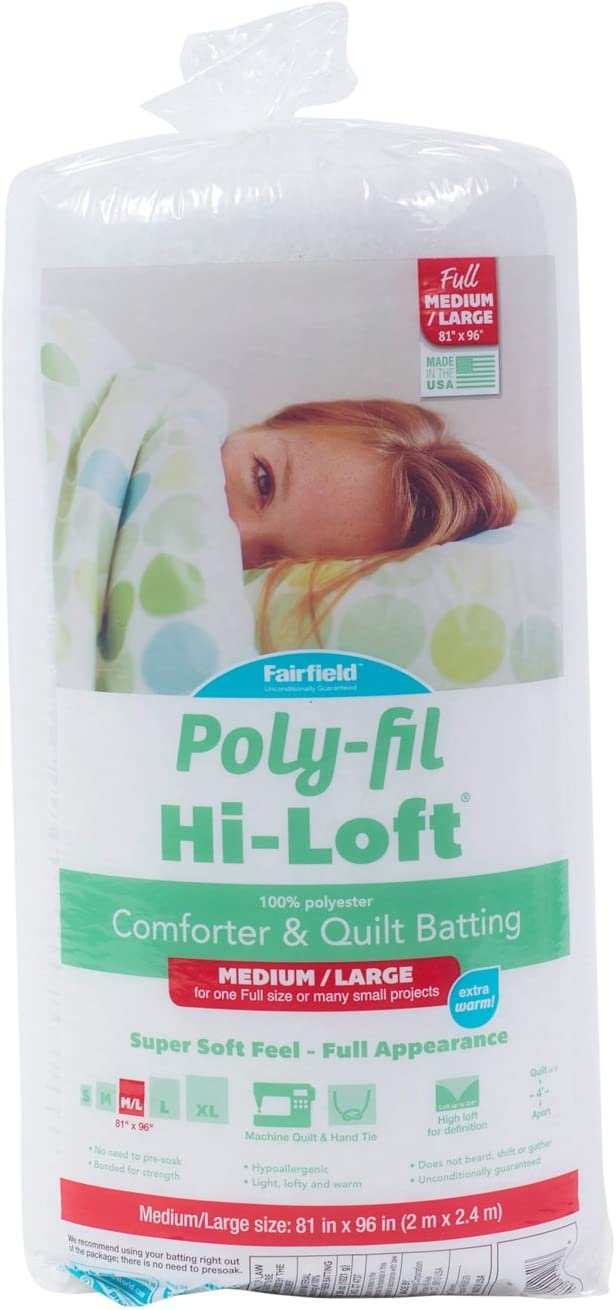 Fairfield H816 Poly-Fil Hi-Loft Full Bonded 8 Super sale period limited Polyester Batting Spring new work one after another