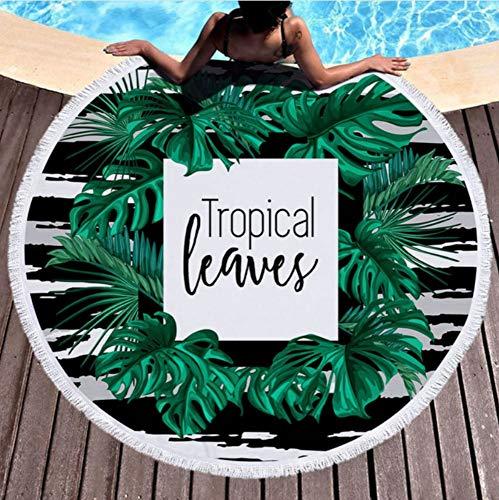 150x150cm Zomer Ronde Strandhanddoek Microvezel Voor Volwassenen Kids Baddouche Handdoeken Mat Bikini Cover Up Met kwastjes Picknick Mat