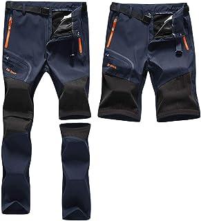 Pantalones Aire Libre de Hombre Convertible Pantalones Cortos Trekking Montaña Escalada Senderismo Secado Rápido Pantalón Funcionales