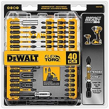 DEWALT Screwdriver Bit Set, Impact Ready, FlexTorq, 40-Piece (DWA2T40IR)