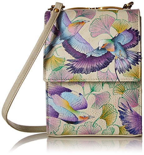 Anuschka Damen Umhängetasche, Handtasche, Wings of Hope, Einheitsgröße