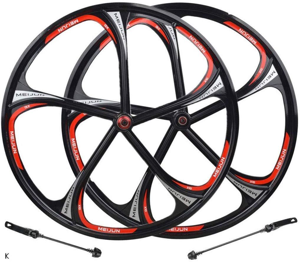 Knoijijuo 26 Pulgadas de la Bicicleta de Frenos de la Rueda Delantera Volver Rueda MTB aleación de magnesio Borde Palin Campamento Rapid Release Disco Pista 8 9 10 Velocidad,Negro: Amazon.es: Hogar