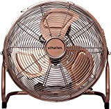Schallen Copper Metal High Velocity Cold Air Circulator Adjustable Floor Fan with 3