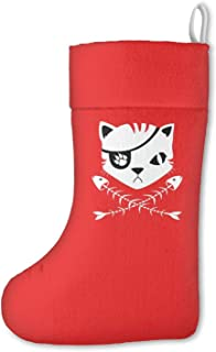 Unicorns Farting Personalized Cat Pirate Flag Christmas Stockings Mantel Decorations Ornaments for Family Holiday Party Decorations