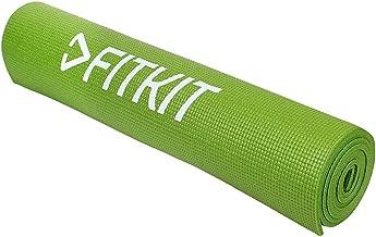 Fitkit Unisex Adult FKYM04-P Yoga Mat - Green, 6 mm
