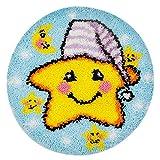 Kits de gancho de traba hechos a mano de bricolaje Alfombra Bordado Punto de cruz Cojín Alfombra Alfombra de felpa Alfombra de bricolaje Fabricación de alfombras Decoración para el hogar(ZD-32)