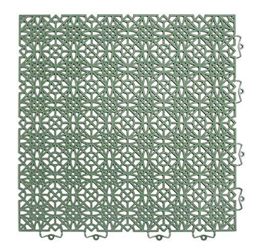 andiamo Kunststofffliese Terra Sol 38x38 cm, Bodenfliese mit Klicksystem, belastbar, Farbe:Grün, Größe:Fliese - Set 35 Stück (5m²)