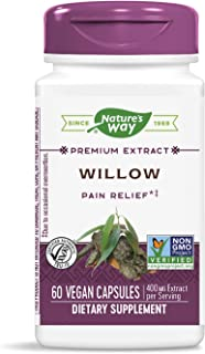 Nature's Way White Willow Bark, 400 mg of Extract per serving, 60 Capsules
