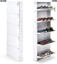 PAffy Powder Coated 5 Door Steel Shoe Rack (White, 26-Inch-5Door-W)