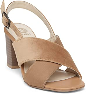 KANABIS Women's Crossways-Mustard Fashion Sandals