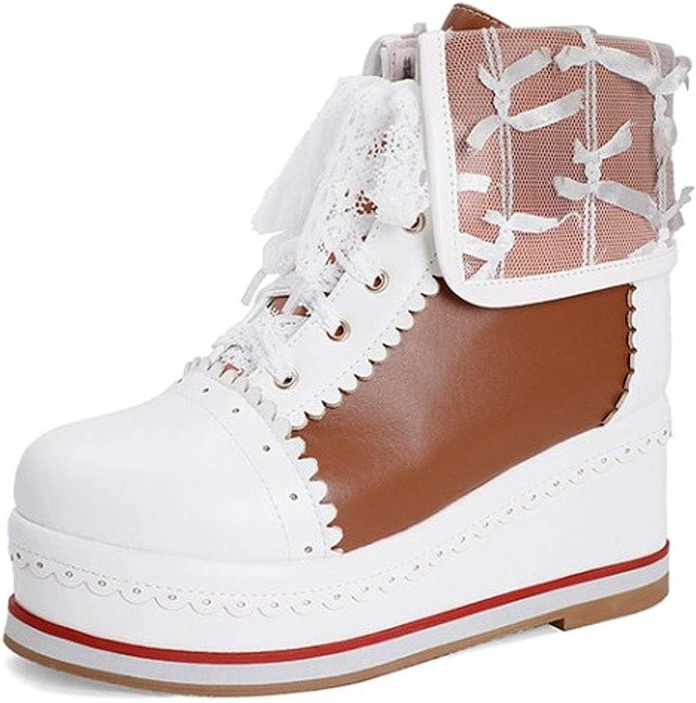 cynllio Women's 大放出セール Kawaii Cosplay Lolita Brogues up Cute Shoes 上質 Lace
