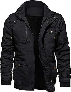 KEFITEVD メンズ 作業服 防寒着 防寒コート 裏ボアコート 冬 裏起毛 ジャンーパ フード 着脱 モッズコート H8935