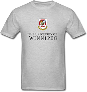 XIULUAN Men's University of Winnipeg Logo T-Shirt Short Sleeve
