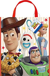 Unique Industries Disney Toy Story 4 Movie Plastic Tote Bag for Party Favor - 13 x 11 Inches - 1 Unit