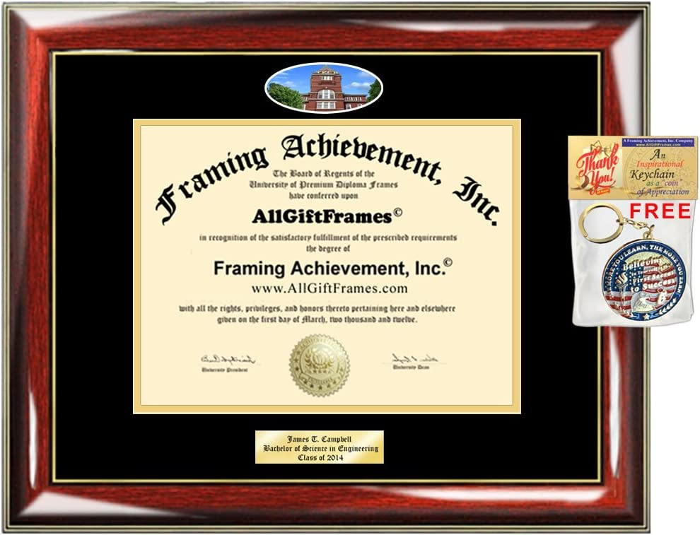Amazon Com Diploma Frame Georgia Tech Georgia Institute Of Technology Graduation Gift Idea Engraved Picture Frames Engraving Degree Plaque Certificate Holder Graduate Him Her Nursing Engineering Education
