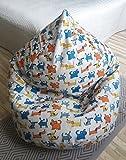 Sitzsäcke für Kinder Leinen Bezug Kinderzimmer Möbel Natürliche Stoffe Bodenkissen Babykissen...