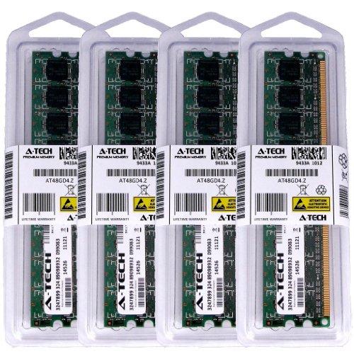 A-Tech 8GB KIT (4 x 2GB) for Gigabyte Motherboard GA-EP35-DS3L GA-G1975X GA-G1975X-C GA-G33-DS3R GA-G33M-DS2R GA-G33M-S2 GA-G33M-S2H GA-G33M-S2L. DIMM DDR2 Non-ECC PC2-8500 1066MHz RAM Memory