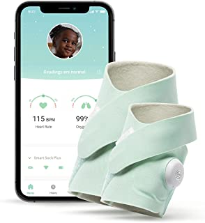 Owlet - Smart Sock Plus Monitor - Monitors Heart Rate and Oxygen for Baby and Child Safety, iOS and Android Compatible - G...