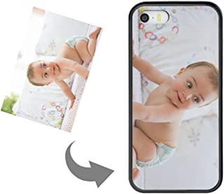 Customize Your Own Phone Case - Personalized Photo Text Logo Back Cover Case for iPhone 5 or 5s,Birthday Xmas Valentines Gift for Her and Him