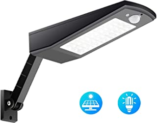 highydroLED 48 LED Solar Light, 900LM Wireless Waterproof Auto Motion Sensor Wall Light Outdoor, 4 Modes Emergency Light with Adjustable Pole Solar Power Light for Wall Street Road Garden Yard