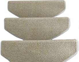 JIAJUAN Stair Carpet Treads Solid Color Non-Slip Thick Stairs Tread Rugs, 4 Colors, 5 Sizes, Customizable (Color : Gray-1 ...