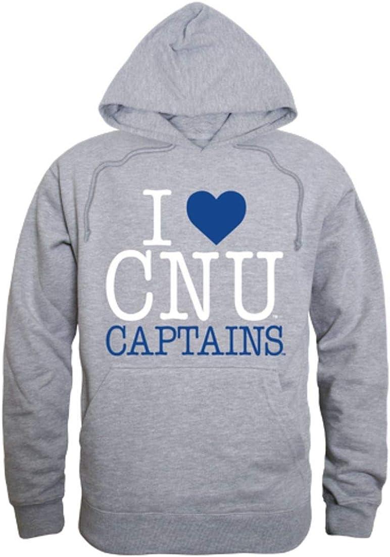 I Love CNU Christopher Newport University Captains Hoodie Sweatshirt