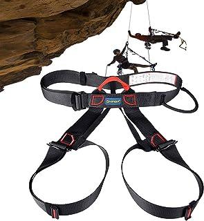 安全ハーネス 登山用 半身安全ベルト クライミングハーネス 可調整 空中作業?ロッククライミング?懸垂下降?登山など 適用 保護装備