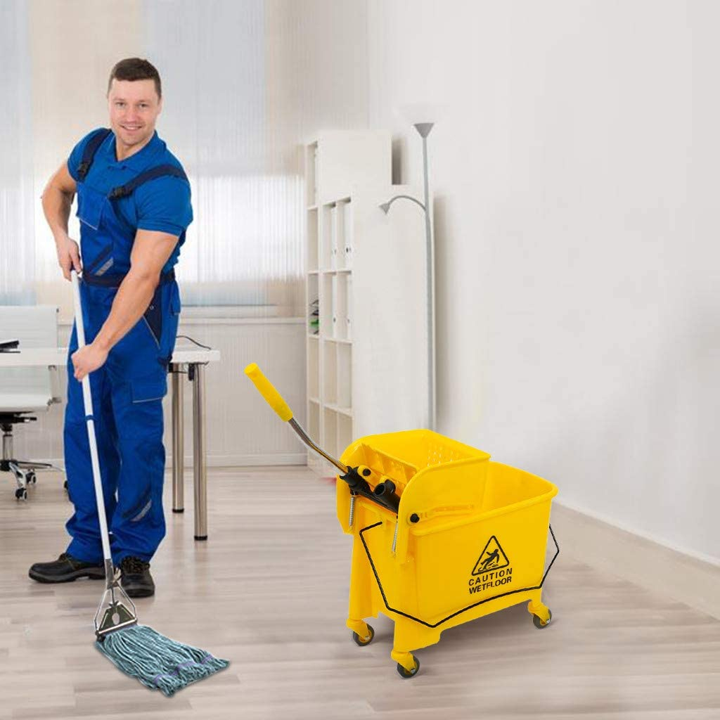 Effulow 5.28 Today's only Gallon Commercial Mop We OFFer at cheap prices Bucket on with Wheels Press W