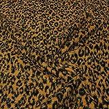 kawenSTOFFE Fellimitat Leopard Plüsch Stoff Kostüm Deko