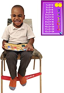 Red (5 Pack) Fidget Chair Bands Improves Focus for Kids and Children in Classrooms and Homes - ADHD ADD SPD Autism Sensory Needs Stretchy Bouncy Fun