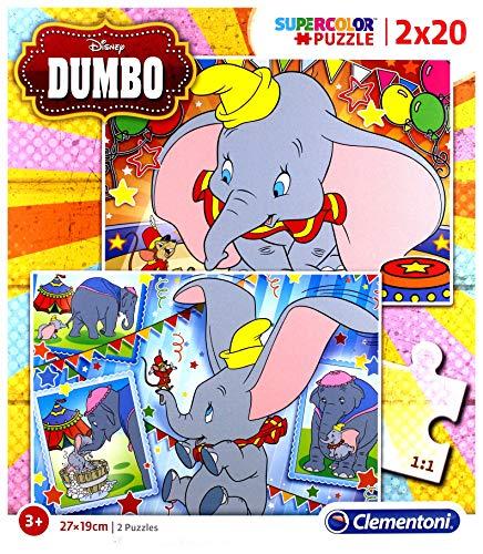 Clementoni Supercolor Puzzle, Dumbo, Multicolore, 24756