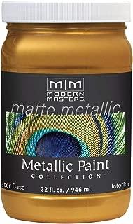 Modern Masters MM659 Matte Metallic Paint, Olympic Gold, Quart