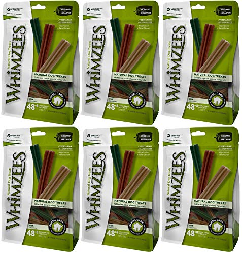 Whimzees Natural Dental Care Stix Dog Treats X-Small - 56 Pack - (Dogs 5-15 lbs) - Pack of 6 Nebraska