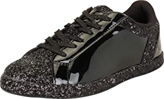 Cambridge Select Women's Low Top Round Toe Glitter Lace-Up Fashion Sneaker