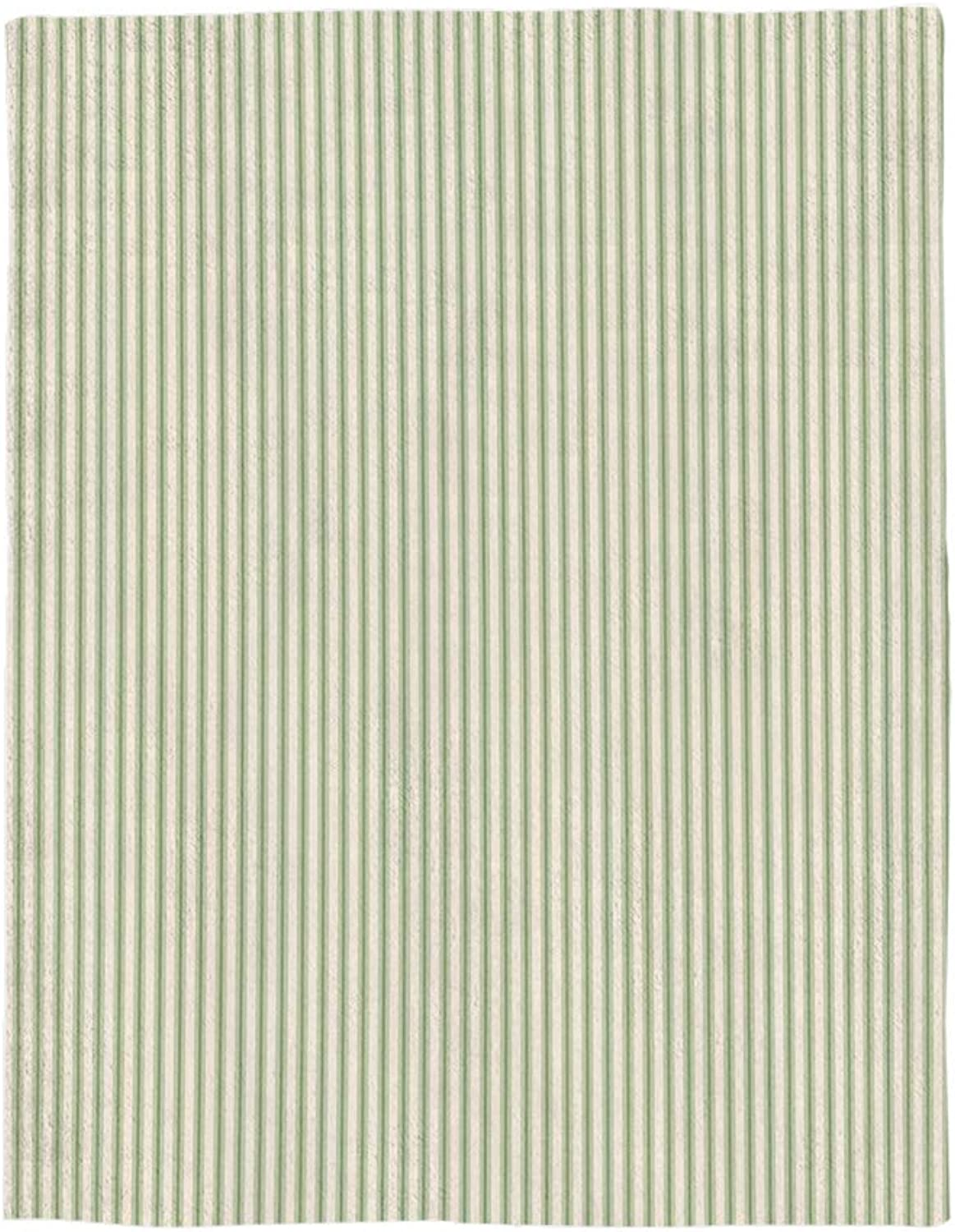 DOMESPACE greenical Straight Line Stripes Geometric Print Flannel Throw Blanket 49x79inch Lightweight Plush Microfiber Fleece Comfy Gift Blankets for Chair Bed Couch