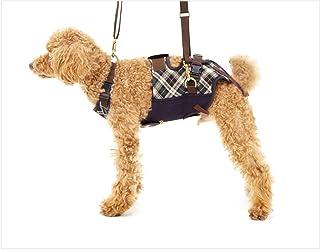 With(ウィズ) 歩行補助ハーネス LaLaWalk 小型犬・ダックス用 スクール(緑チェック) M サイズ