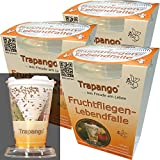 MACUR 3 x Fruit Mouches de Vivants Cas trapango, (Pack de 3)
