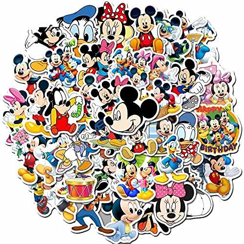 LYDP 50 pegatinas de Mickey Minnie, dibujos animados, lindos Mickey Mouse, equipaje, portátil, manual impermeable